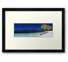 The blue paradise Framed Print