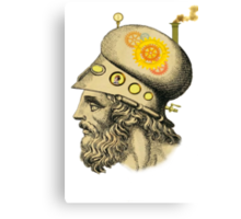 Steampunk Greek Helmet Canvas Print