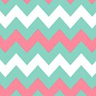 &gt;&gt;chic.chevron&lt;&lt; - teal&amp;pink&amp;white by designsbyjenn