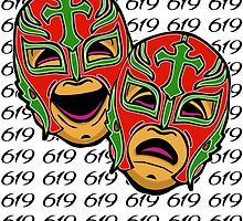 REY MYSTERIO 619 COMEDY TRAGEDY by Grandevoodoo