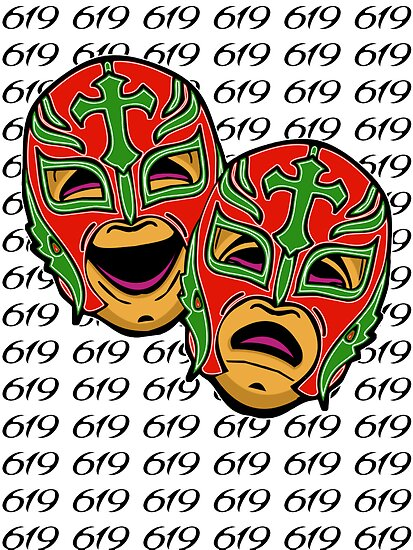 rey mysterio 619 comedy tragedy by grandevoodoo redbubble. Black Bedroom Furniture Sets. Home Design Ideas