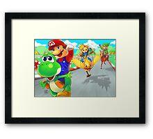 mario racing Framed Print