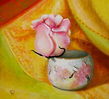 """Rose In Japanese Cup"" by Tatiana Roulin"