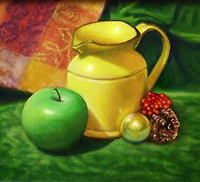 """Yellow Jug With Granny"" by Tatiana Roulin"