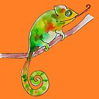 A curly chameleon by juliaweston