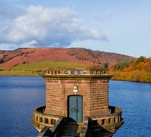Pumphouse At Ladybower Reservoir by ANDREW BARKE