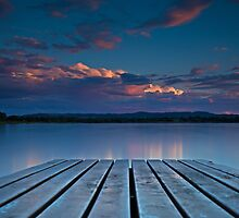 Lake Albert Sunset by bazcelt