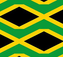 Iphone Case - Flag of Jamaica - Patchwork by Mark Podger