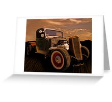 ThisChevy Rat Rod Pickup Began Life Back in 1936 Greeting Card