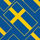 Iphone Case - Flag of Sweden - Diagonal by Mark Podger