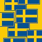 Iphone Case - Flag of Sweden - Horizontal by Mark Podger