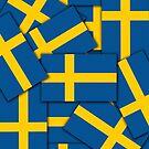 Iphone Case - Flag of Sweden - Multiple by Mark Podger