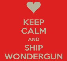 Keep Calm and Ship WonderGun Tee by Niamh Wilson