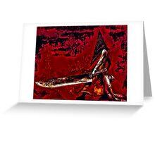 Pyramid Head Greeting Card