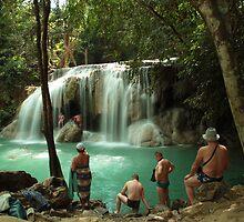 Erawan waterfalls, Thailand by DavePrice