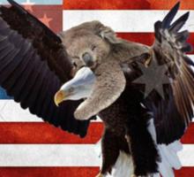 Ameristralia Flag 2 (Eagle/Koala Edition) Sticker
