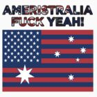 Ameristralia Flag (Text Three) by HeyHaydn