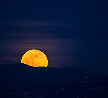 Moonrise over Tiger Mountain by Jim Stiles