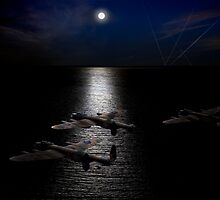 Dambusters North Sea crossing by Gary Eason + Flight Artworks