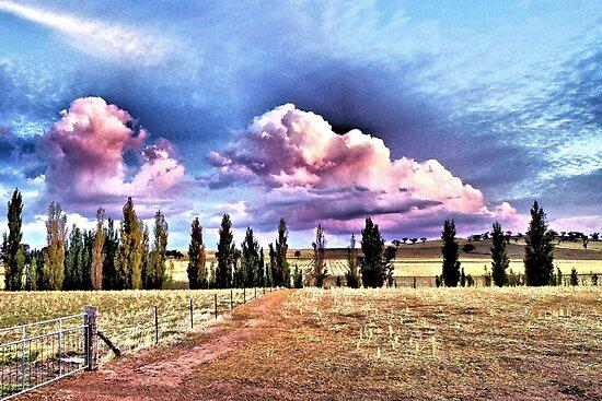 Stockinbingal Sunset Clouds by George Petrovsky