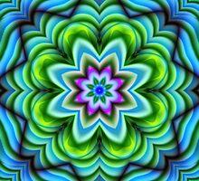 Kaleidoscope Fantasy Flower fractal art by walstraasart