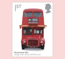 British Red Bus Postage Stamp by TravelShop