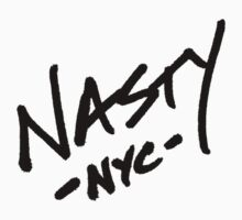 ONE WORD: Nasty - Oversized Black Thick Script Tee by 1WORD