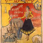 Poster advertising the show 'Miss Olwing and her Rabbits' (color litho) by Bridgeman Art Library