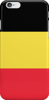 Smartphone Case - Flag of Belgium  - Vertical by Mark Podger