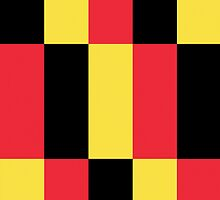Smartphone Case - Flag of Belgium  - Patchwork by Mark Podger