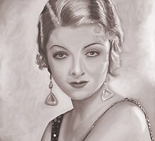 Myrna Loy Sepia by Richard Eijkenbroek