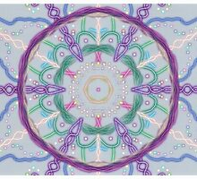 Random Psychedelic Kaleidoscope 3 by Jennifer Mosher