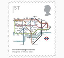 British London Underground Postage Stamp by TravelShop