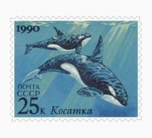 Russia CCCP Killer Whales Postage Stamp by TravelShop