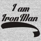 I am Iron Man (Now In Black) by GenialGrouty