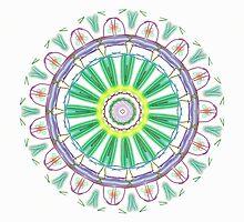 Random Psychedelic Kaleidoscope 5 by Jennifer Mosher