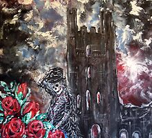 Death and roses at Whitby Abbey by Yorkspalette