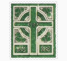 Ireland Celtic Cross Postage Stamp by TravelShop