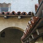 Roof detail, Mission, Santa Barbara by Jennifer Mosher
