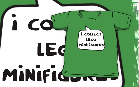 I COLLECT MINIFIGURES by Bubble-Tees.com by Bubble-Tees