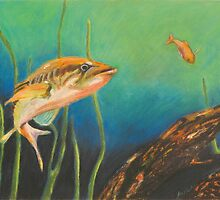 Bass and the Minnow by jmfischer