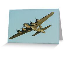 Boeing B17 Bomber Sally B Greeting Card