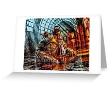 Mr Bubbles Please Get up Greeting Card