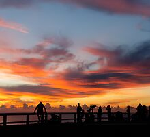 Sunrise Spectators at Cape Byron Lighthouse by Cheryl Styles