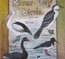 River Day Birds  by Thea (tatefox)