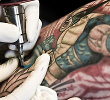 Tattooing Wolverine.  by sallyrose1