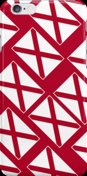 Smartphone Case - State Flag of Alabama  - Patchwork Diagonal by Mark Podger