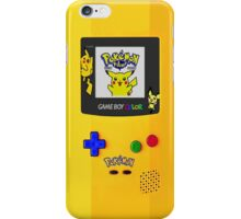 Gameboy Color Pokemon edition iPhone Case/Skin