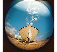 #white boat Photographic Print