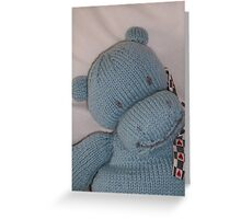 Knitted Hippo Greeting Card